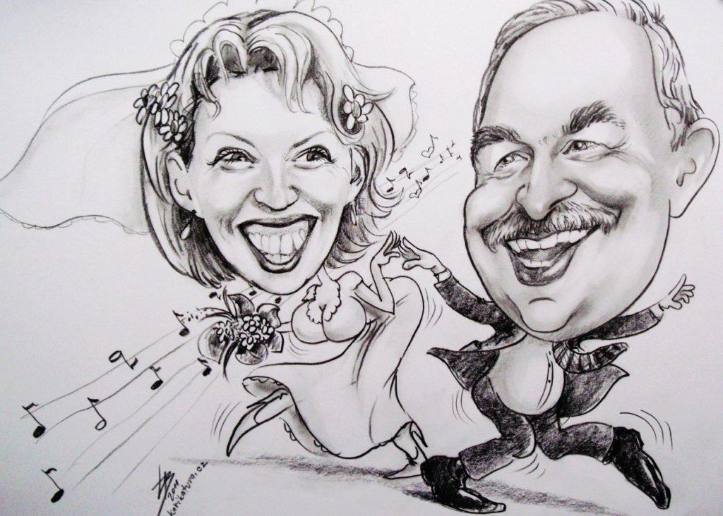 Karikaturista - zábava na svatbu