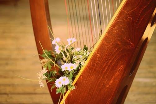 Harfistka na svatbu